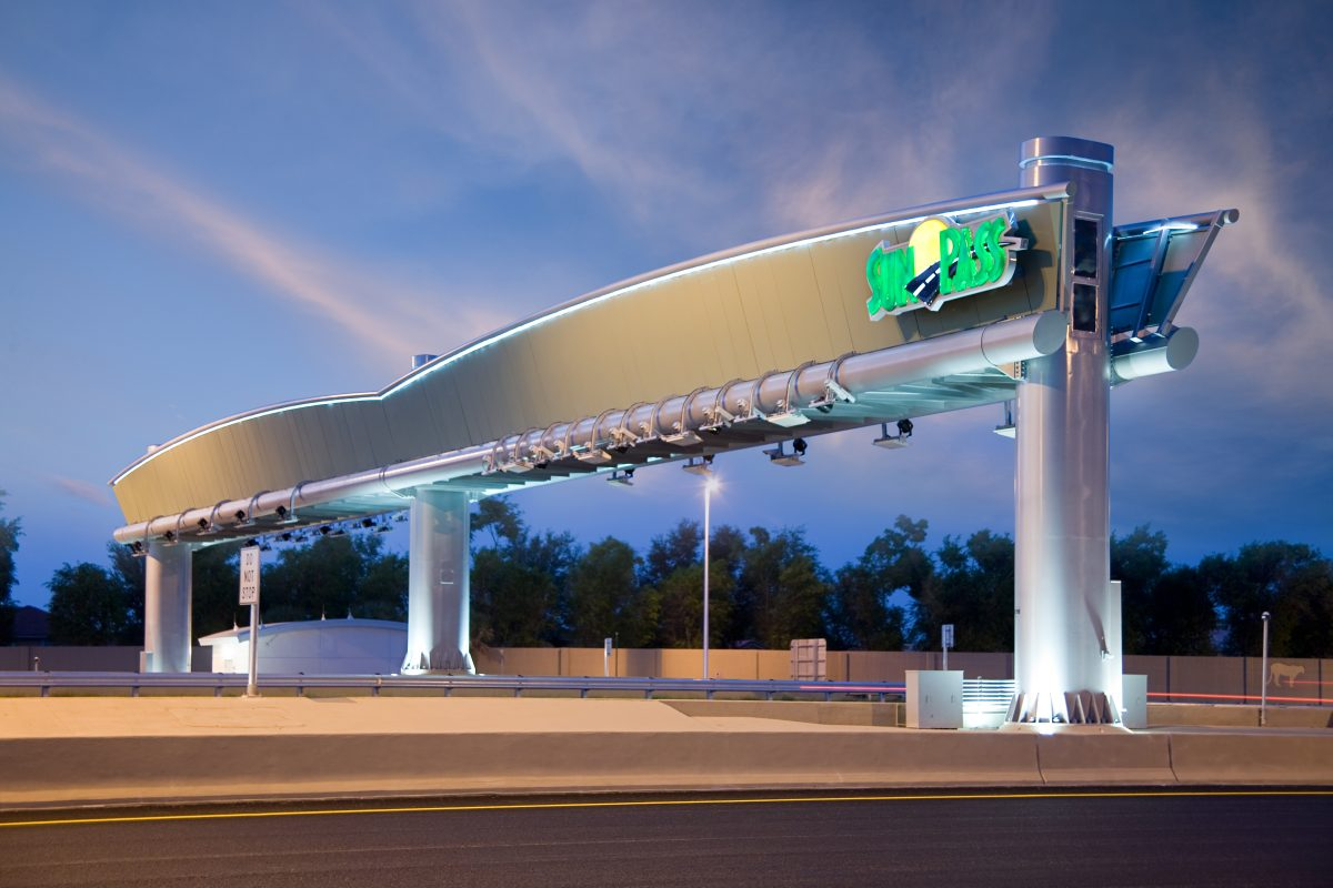 Sun pass toll gantry